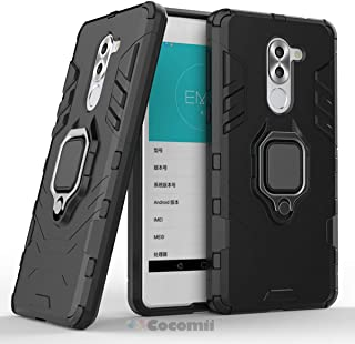 Cocomii Black Panther Armor Huawei Honor 6X/Mate 9 Lite/GR5 2017 Case New [Heavy Duty] Tactical Metal Ring Grip Kickstand [Works with Magnetic Car Mount] Cover for Huawei Honor 6X (B.Jet Black)