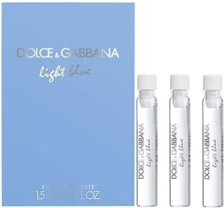 D&G Gabbana Light Blue Eau De Toilette Sample Vials Lot of 3-0.05OZ/1.5ML