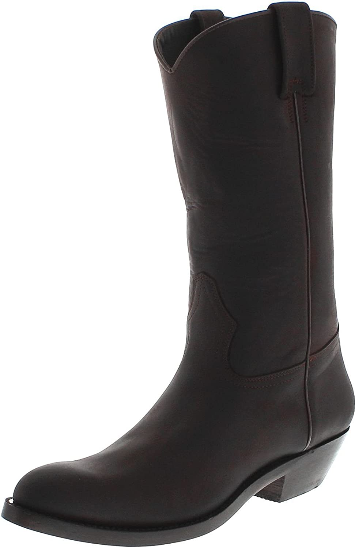 FB Fashion Stiefel 650 Testa Lederstiefel für Damen und Herren Braun Westernstiefel