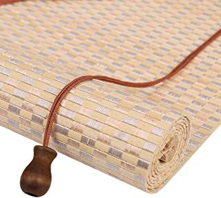 ZAQ Bamboo Roller Shade - Sun Shade Blinds for Window Blackout, 65cm/70cm Wide (Color : A, Size : 65×40cm)