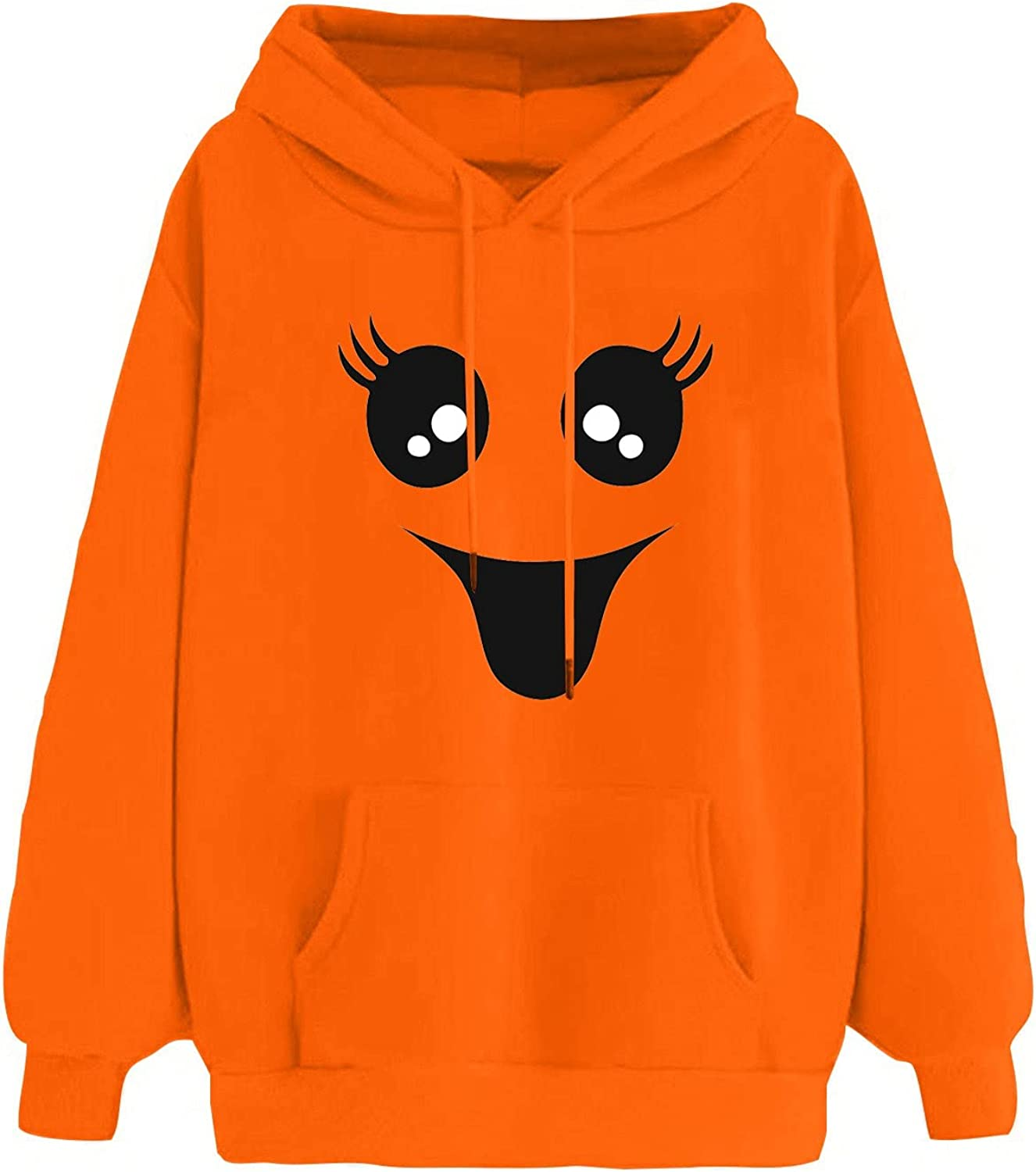 Halloween Women Long Sleeve Hoodies,Oversized Year-end annual account Hoodie Pumpki Don't miss the campaign