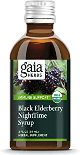 Sponsored Ad - Gaia Herbs, Black Elderberry NightTime Syrup, Immune Support for Restful Sleep, Organic Sambucus Elderberry...