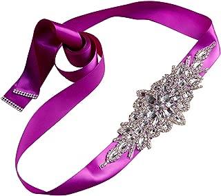 plum sash for wedding dress