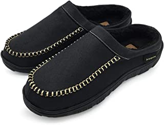 FUNKYMONKEY Men's Moccasin Slippers Warm Winter Memory Foam House Shoes