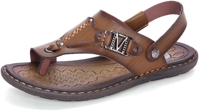 U-MAC Men's Flip Flops Thong Sandals Comfortable Slip on Non-Skid Summer Beach Casual Slippers