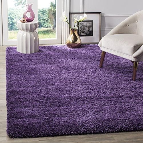 Safavieh Milan Shag Collection SG180-7373 Purple Square Area Rug (7' Square)