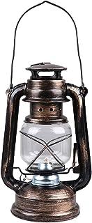 OSALADI Vintage Hurricane Lantern Storm Camping Lights LED Metal Hanging Lantern for Indoor Outdoor Garden Patio Party Decor