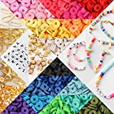 MTOUOCK 4500 Pcs Clay Beads for Jewelry Making Necklaces and Bracelets of 18 Colors Craft Set