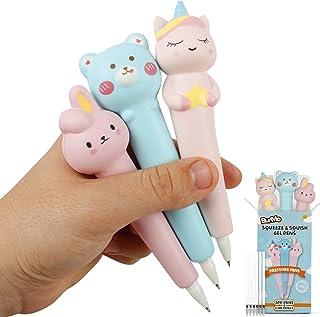 قلم جل من بنمو كاواي - أقلام إسفنجية لطيفة - ألعاب فتاة وحيد القرن لسن 5 سنوات ومستلزمات للبنات من سن 10 إلى 12 سنة