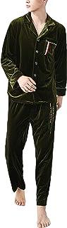 Men's Sleepwear Long Sleeve Lapel Solid Color Velvet Pajama Comfortable Sizes Set Autumn Winter Trendy Comfortable Homewea...
