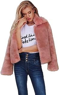 Realdo Womens Faux Fur Coat Clearance Sale, Warm Solid Shearling Cardigan Outwear Overcoat