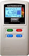 LATNEX Case and Cornet ED-88TPlus EMF/RF Detector/Acoustic and Low Frequency Gaussmeter and Electric Field Meter - Measures Wide Range of Frequencies (Red)