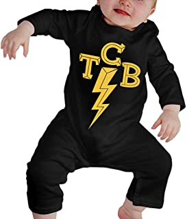 Elvis-The King of Rock 'n'roll TCB Newborn Girls Boy's Kids Body para bebé de Manga Larga para niños pequeños