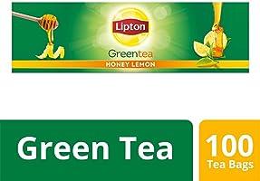 Lipton Honey Lemon Green Tea Bags, 100 Pieces