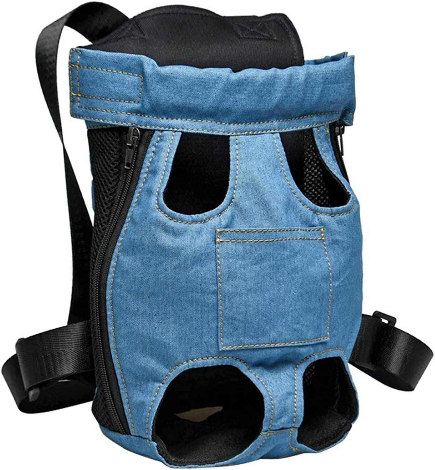Dog Carrier Backpack Legs Out Front Adjustable Puppy Cat Small Bag with Shoulder Strap and Sling for Traveling Hiking Camping Outdoor