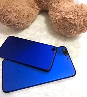 Colorful Hard Metal Back Battery Housing Cover Case Replacement 4 iPhone 7Plus (Blue with Black Line)