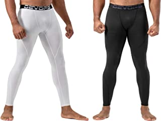 2 Pack Men's Thermal Compression Pants, Underwear Long Johns Base Layer Tights