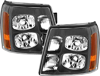 HEADLIGHTSDEPOT Black Housing HID Left and Right Headlights Pair Compatible With Holiday Rambler Navigator 2008-2009 Motorhome RV