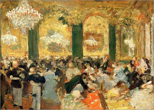 Posterlounge Acrylglasbild 90 x 70 cm: Das Ballsouper von Edgar Degas/akg-Images - Wandbild, Acryl Glasbild, Druck auf Acryl Glas Bild