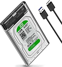 2.5 inch Hard Drive Enclosure QGeeM SATA to USB 3.0 HDD Box for Samsung Seagate SSD 1TB 2TB External HDD Case