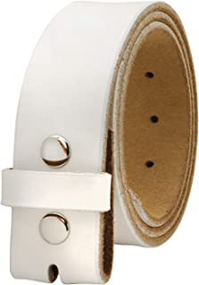 "Falari Replacement Genuine Leather Belt Strap Without Buckle Snap on Strap 1.5"" Wide 8005"