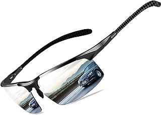 عینک آفتابی مردانه Bircen Mens Polarized Carbon عینک آفتابی محافظ ورزشی ورزشی ماهیگیری برای مردان قاب آل Mg