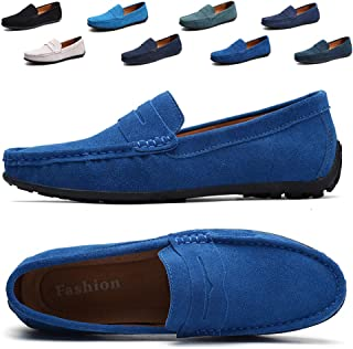 Best mens light blue suede loafers Reviews