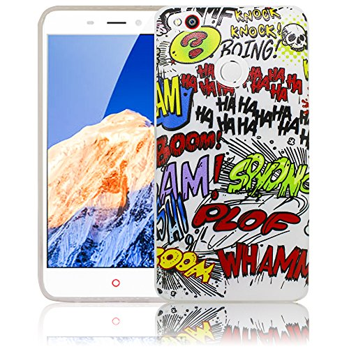 thematys Passend für ZTE Nubia N1 Comic Haha Silikon Schutz-Hülle weiche Tasche Cover Case Bumper Etui Flip Smartphone Handy Backcover Schutzhülle Handyhülle