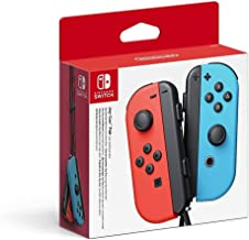 Nintendo Switch Joy Con Neon Red and Blue Controller Pair
