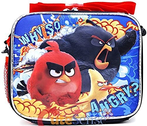 Angry Birds Movie School Lunch Bag Insulated Snack Box Why So Angry-schwarz