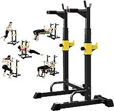Bueuwe Squat Rack Draagbare halterrekken,Multifunctioneel halterrek, Home Gym Stevige draagbare halterrekken,Eendelig vers...