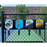 """Boomer HD Pickleball Paddle Rack – Holds 4 Paddles – Track Players """"Next-Up"""" on The Court – Heavy-Duty 1/8"""" Steel with Weather-Proof Powder Coating"""
