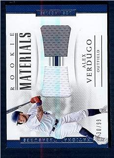 2018 Panini National Treasures Rookie Dual Materials #15 Alex Verdugo NM-MT MEM 30/99 Los Angeles Dodgers Baseball
