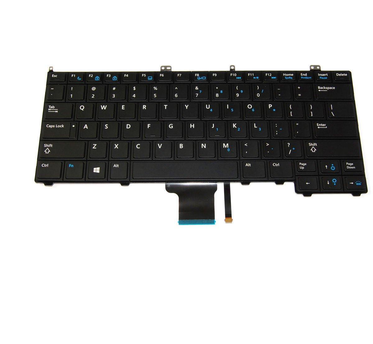 New Genuine Dell Latitude E7440 US Keyboard NSK-LD0UC 4G6VR 04G6VR