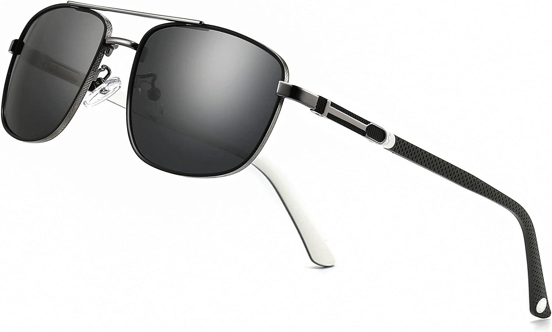 SUNGAIT Lightweight Rectangular Polarized Memphis Mall Max 77% OFF for Men Sunglasses Dri
