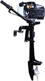 LEADALLWAY Four Stroke Air-Cooled 4 HP Outboard Motor Boats Fishing Boat Kayak Canoe TM