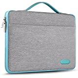 Hseok Laptop Sleeve 13-13.5 Inch Case Briefcase, Compatible All Model of 13.3 Inch MacBook Air/Pro, XPS 13, Surface Book 13.5' Spill-Resistant Handbag For Most Popular 13'-13.5' Notebooks, Silver Grey