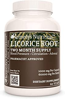 Licorice Root Remedy's Nutrition MEGA Strength Supports Good Immunity and Better Breathing 1,000 mg per Cap...
