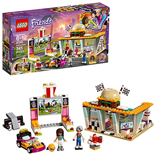 LEGO Friends Drifting Diner 41349 Race Car and Go-Kart Toy Building Kit for Kids, Best Creative Gift for Girls and Boys (345 Pieces) (Discontinued by Manufacturer)