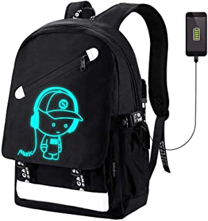 School Backpack Bookbag SKL Anime Cartoon Backpack Casual Daypack for Boys Girls Teenagers