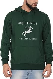 Swag Swami Unisex Cotton Sagittarius Furiously Curious Zodiac Printed Hoodie | Hooded Sweatshirt