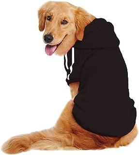 LESYPET Big Dog Sweater Dog Hoodies Sports Clothes Design for Big Dog, Labrador Retriever, Golden Retriever,German Shepherd Dog,Boxer etc, 20lbs-80lbs