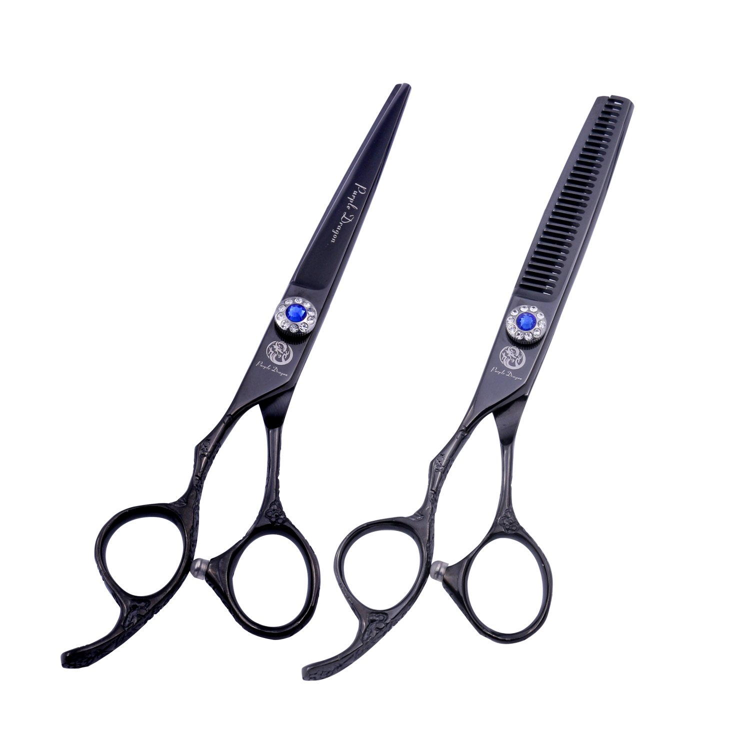 Max 60% OFF Purple Dragon 6.0 Sales results No. 1 inch Professional 440C Salon Hair Left-handed