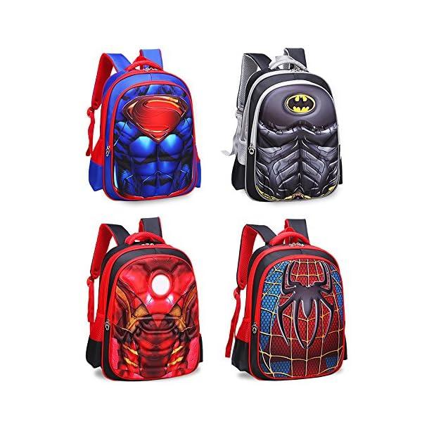 61VhV5t6xfL. SS600  - Mochila para niños Mochila primaria superhéroe hombre araña mochila para niños