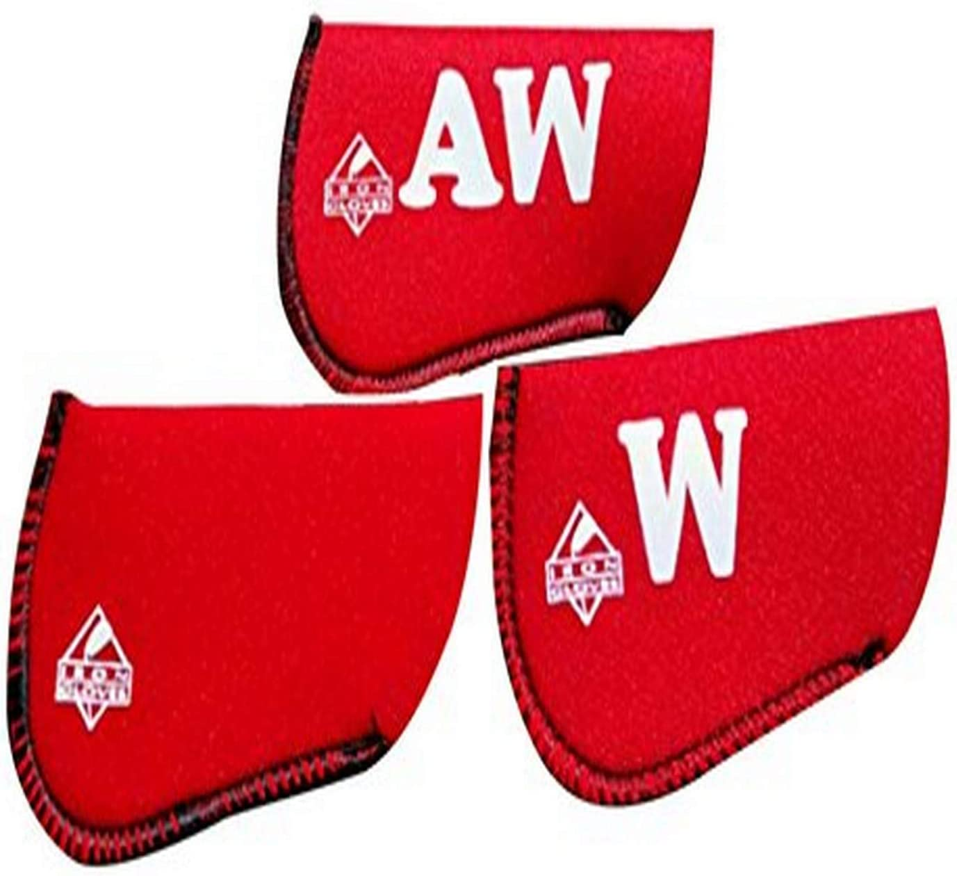 Iron Direct stock discount unisex Gloves Wedge Set Piece 3 Red