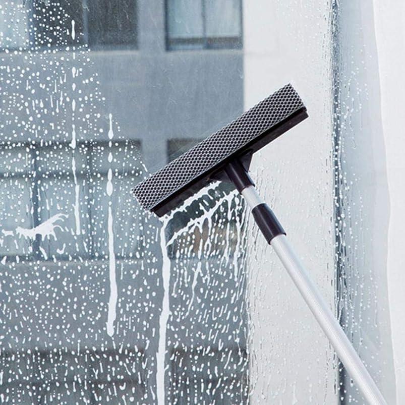 移住するこだわりひどい伸縮水切りワイパー スクイジー 水切りワイパー ガラスワイパー フローリングスキージ 掃除用品 スクイージー ウェットバスルームフロアに最適 アルミニウム 埃/水/髪の毛 フロア/バスルーム/窓口