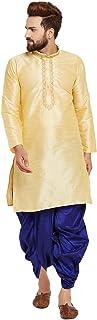 Sojanya Men's Dupion Silk Kurta Dupion Silk Dhoti Set