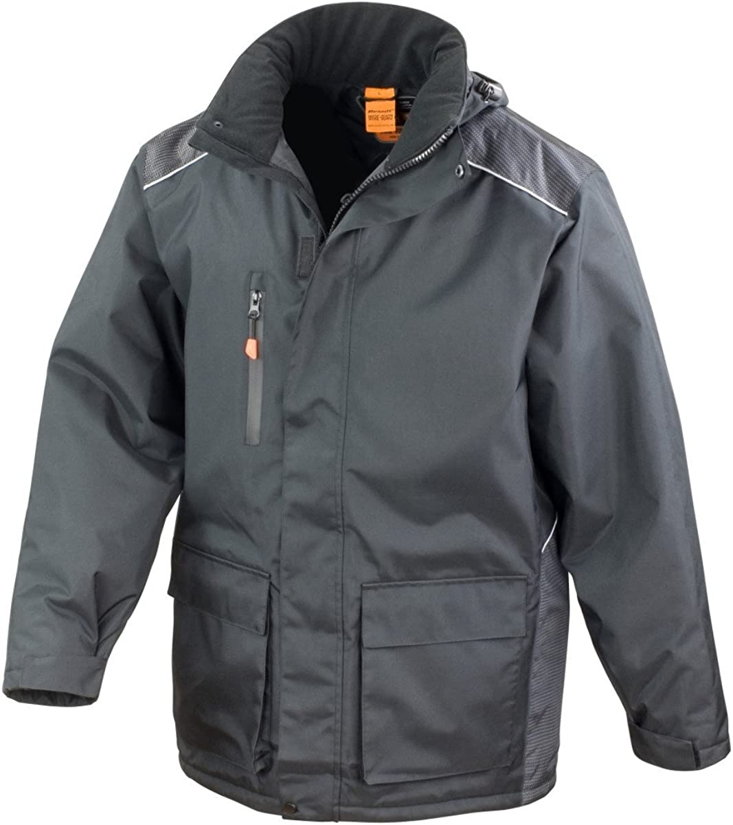 Result Mens Work-Guard Vostex Long Coat/Workwear (Waterproof & Windproof)