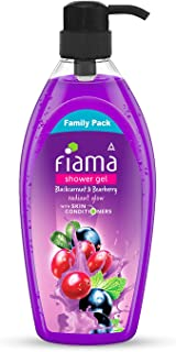 Fiama Shower Gel, Family pack, Blackcurrant & Bearberry Body Wash with Skin Conditioners for Radiant Glow, 900 ml bottle