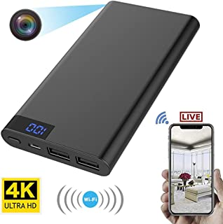 RONSHIN Mini HD 1080P Spy Hidden Camera Power Bank Motion Detection Recorder 5000mAh Cargador de Dispositivo Black H8 WiFi